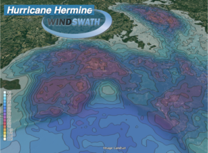 Hurricane Hermine Wind Speed Map