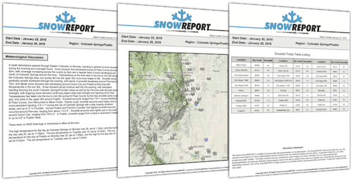 SnowREPORT Sample PDF Report